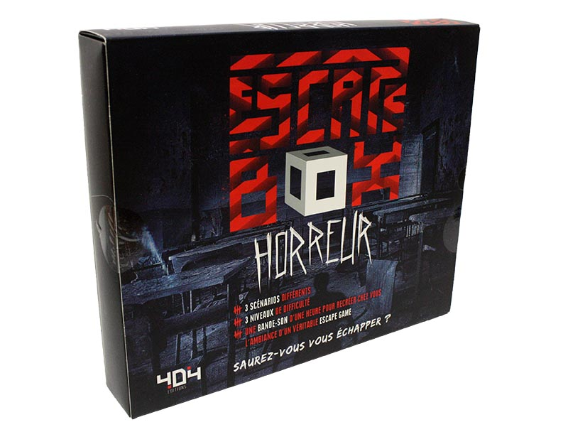 ESCAPE GAME -  HORREUR (FRENCH) -  ESCAPE BOX
