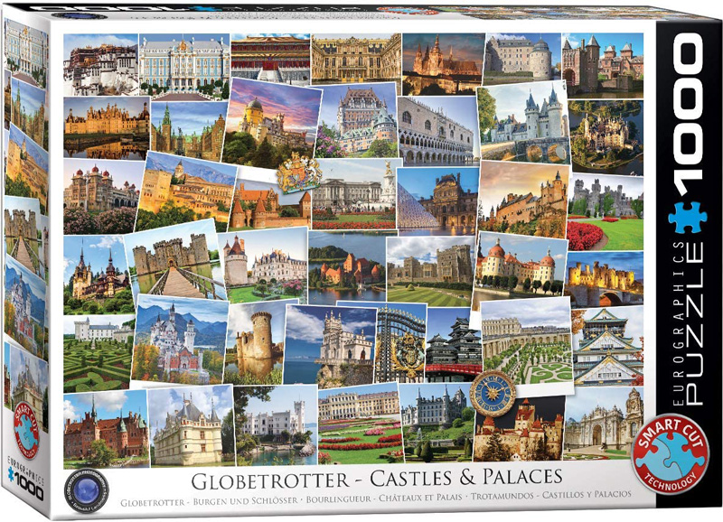 EUROGRAPHICS -  CASTLES AND PALACES (1000 PIECES) -  GLOBETROTTER