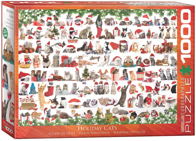 EUROGRAPHICS -  HOLIDAY CATS (1000 PIECES)