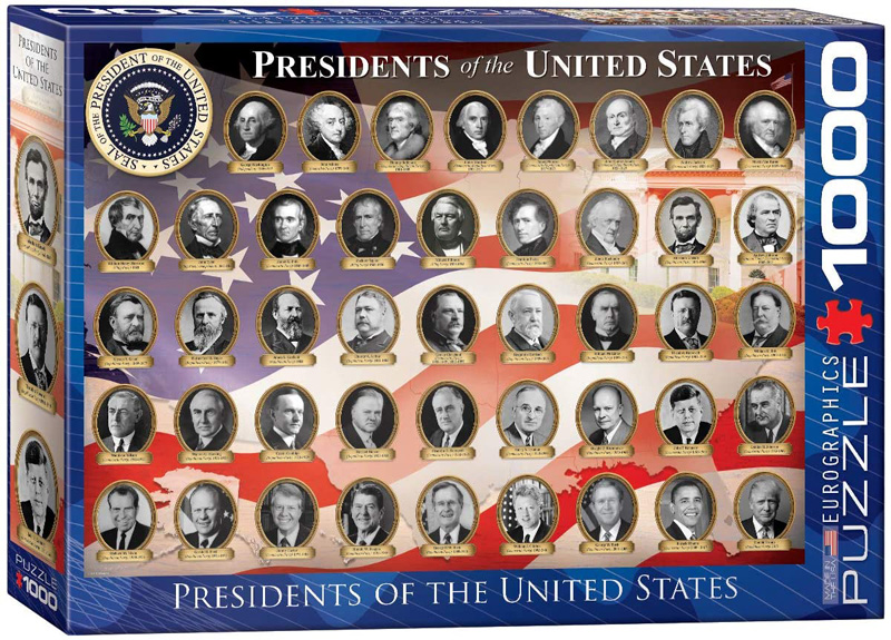 EUROGRAPHICS -  PRESIDENTS OF THE UNITED STATES (1000 PIECES)
