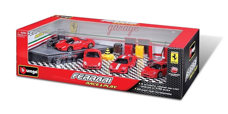 FERRARI -  RACE AND PLAY PACK 1/43 - RED