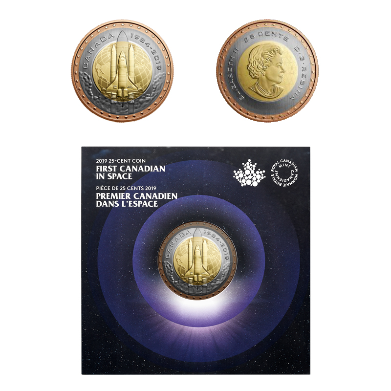 FIRST CANADIAN IN SPACE -  2019 CANADIAN COINS