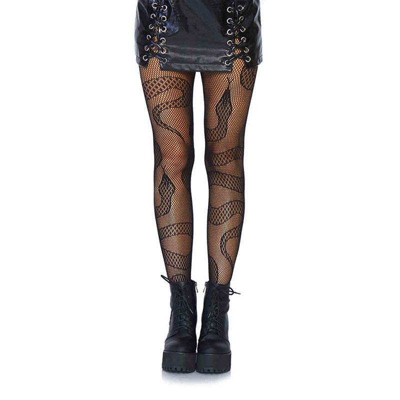 FISHNET -  SNAKE NET TIGHTS - ONE SIZE