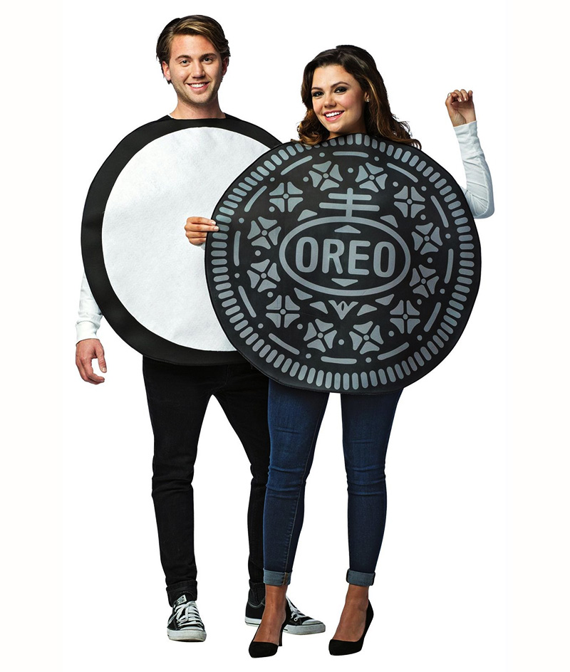 FOOD -  OREO COOKIE COUPLES COSTUME (ADULT - ONE SIZE)