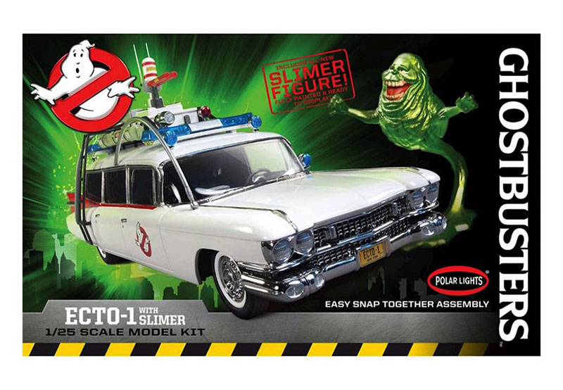 Ghostbusters Ghostbusters Ecto 1 W Slimer Figure Plastic Model 1 25 Level 1 Easy Model Kits Cars