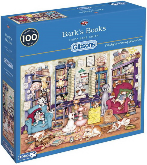 GIBSONS -  BARK'S BOOKS (1000 PIECES)