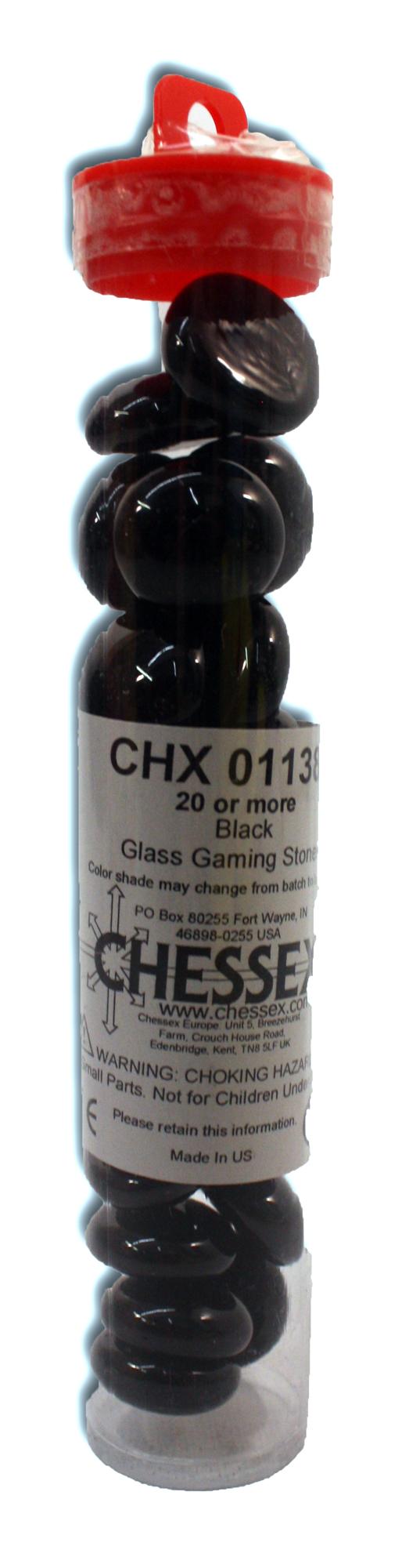 GLASS TOKENS -  BLACK (20+ PCS)