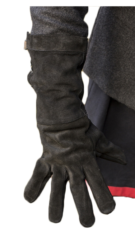 GLOVES -  FENCING GLOVES - BLACK SUEDE