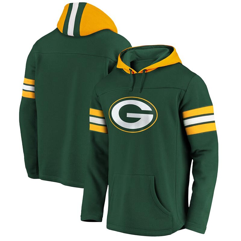 GREEN BAY PACKERS -  GREEN PULLOVER WITH HOOD