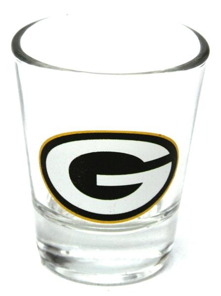 Green Bay Packers Logo Shooter Glass 2 Oz Glassware Football
