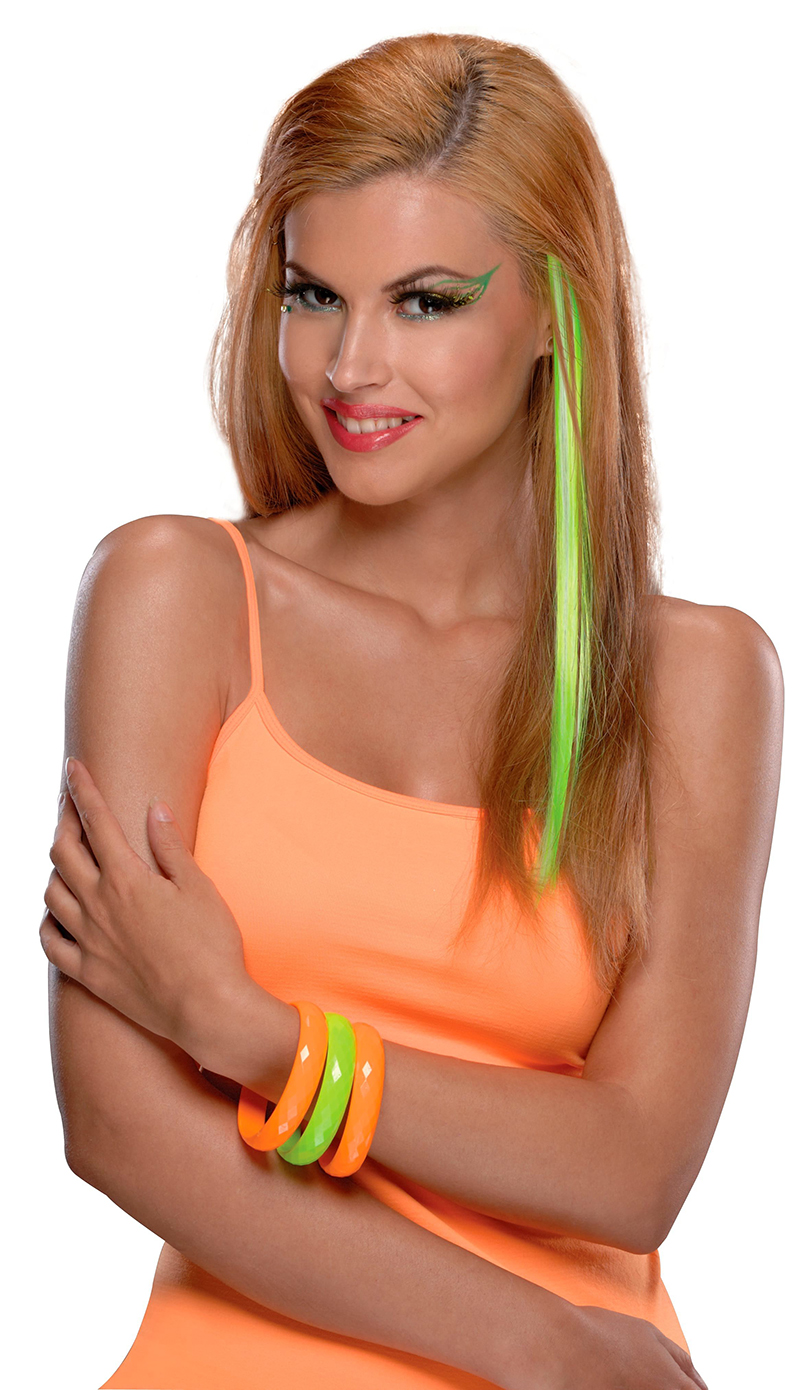 HAIR EXTENSIONS -  NEON GREEN EXTENSION