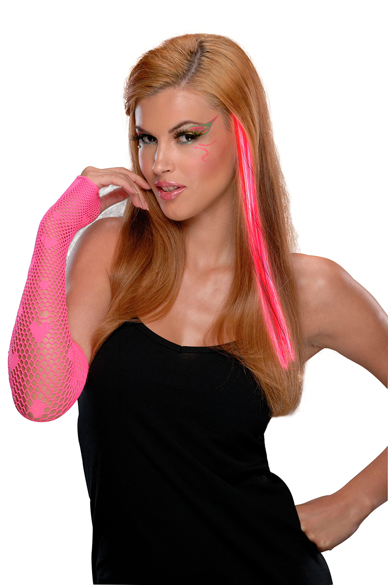HAIR EXTENSIONS -  NEON PINK EXTENSION