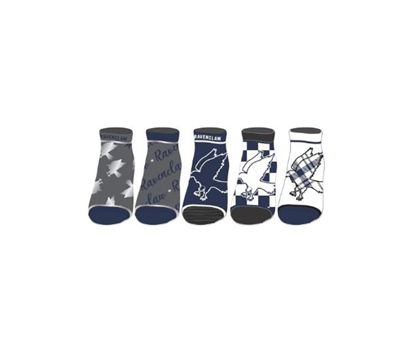 HARRY POTTER -  5 PAIRS OF ANKLE SOCKS -  RAVENCLAW