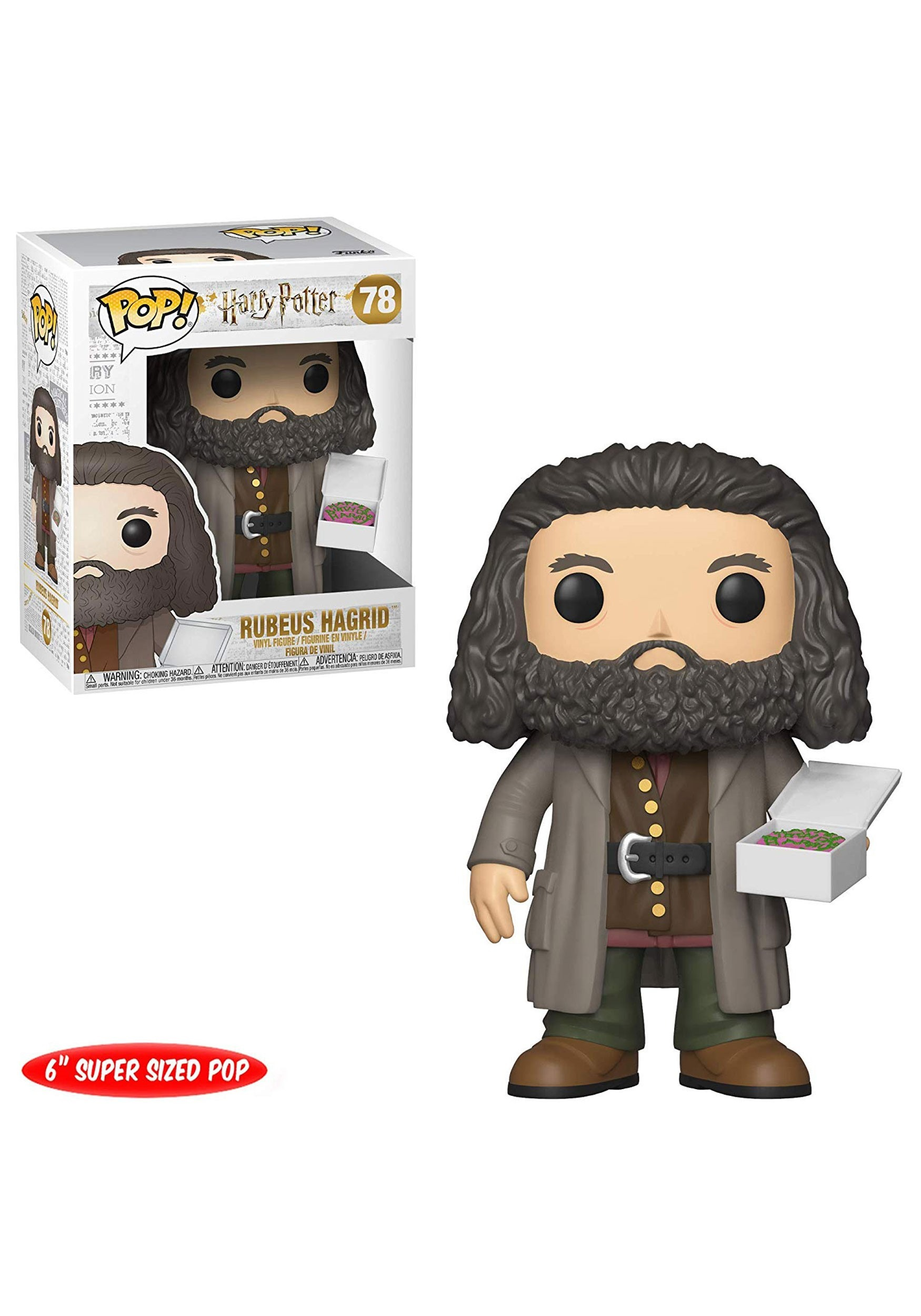 HARRY POTTER -  POP! VINYL FIGURE OF HAGRID WITH CAKE (6 INCH) 78