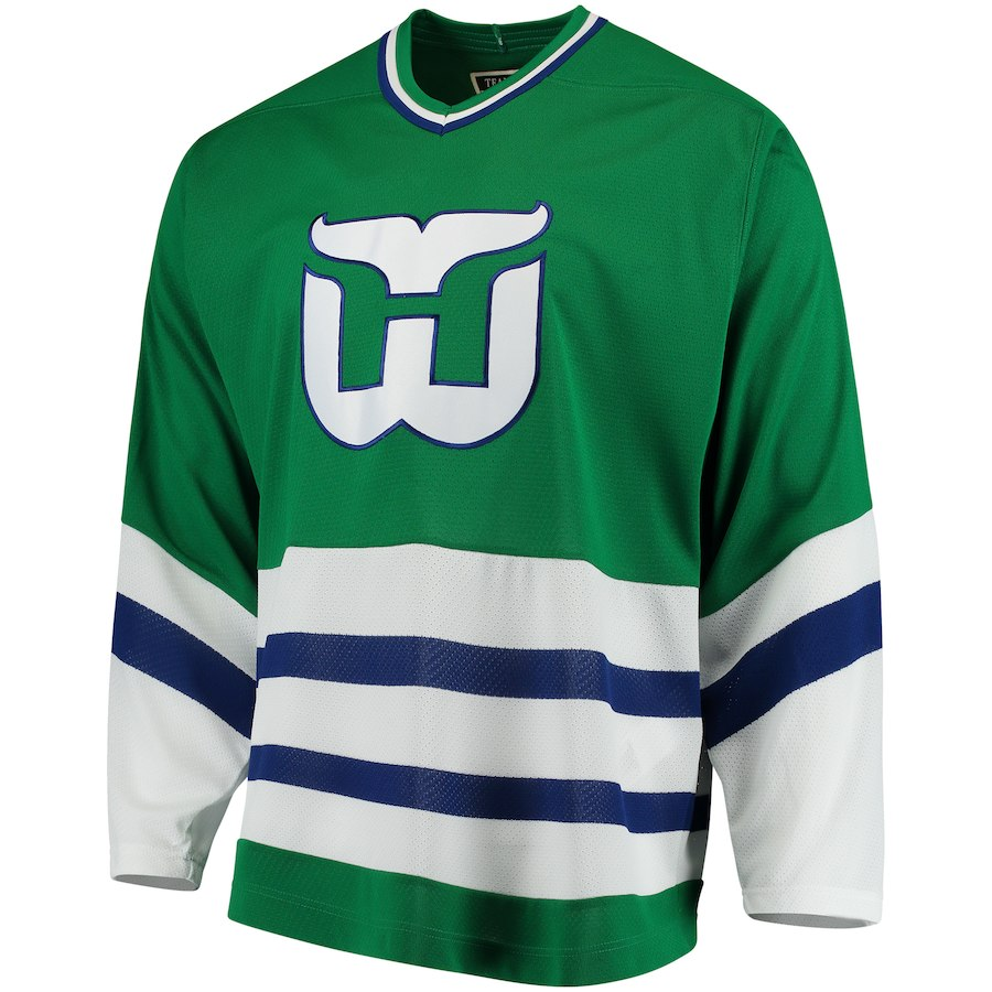 HARTFORD WHALERS -  HERITAGE REPLICA JERSEY GREEN