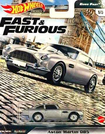 Hot Wheels Aston Martin Db5 Fast And Furious Euro Fast 1 5 Cars 1 64