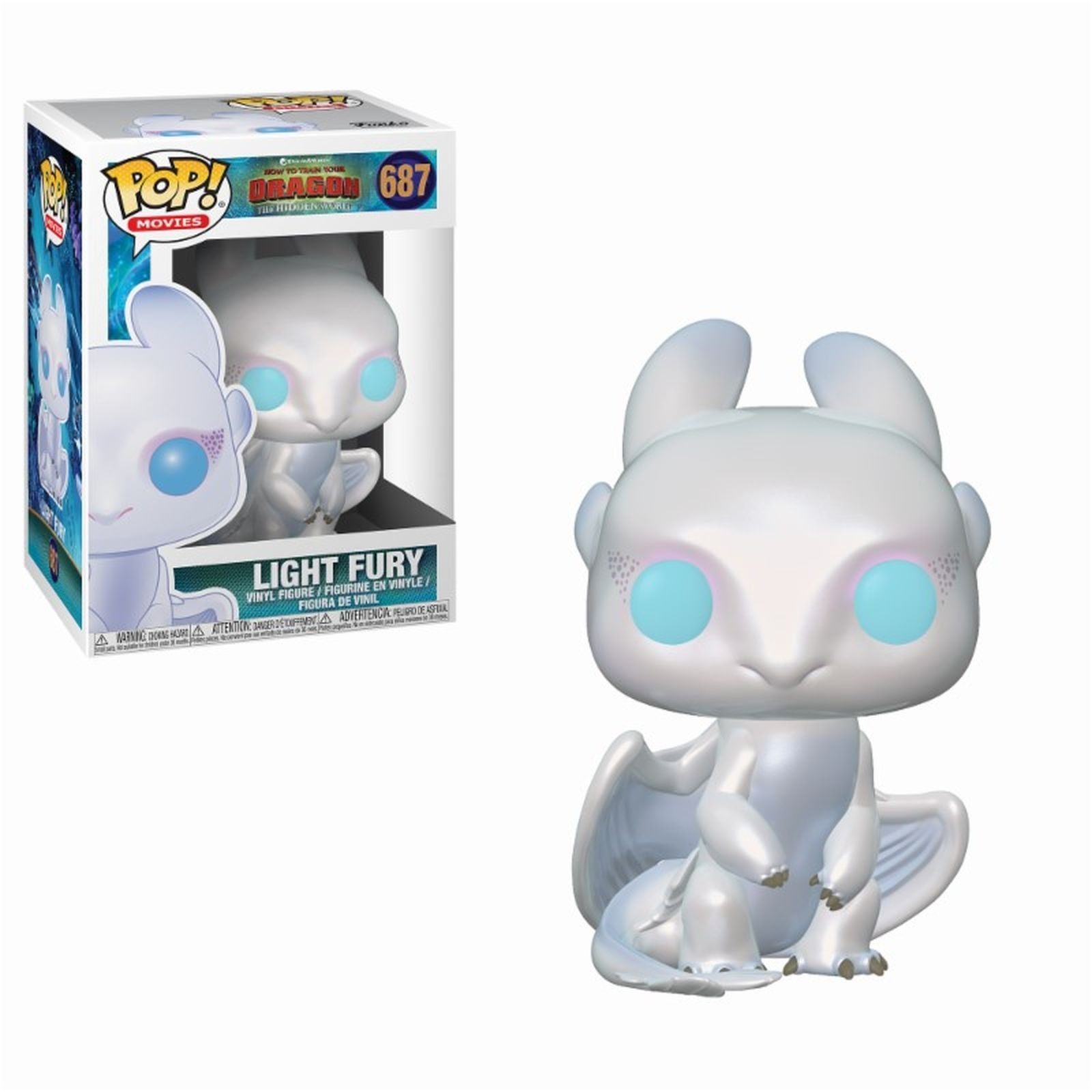 HOW TO TRAIN YOUR DRAGON -  POP! VINYL FIGURE OF LIGHT FURY (4 INCH) -  HOW TO TRAIN YOUR DRAGON 3: THE HIDDEN WORLD 687