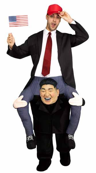 HUMOR -  CARRY ME KIM COSTUME (ADULT - ONE SIZE) -  PIGGYBACK COSTUME
