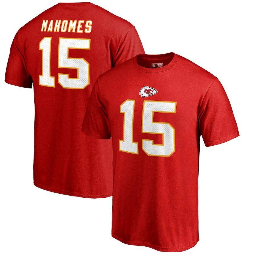 KANSAS CITY CHIEFS -  PATRICK MAHOMES #15 T-SHIRT - RED