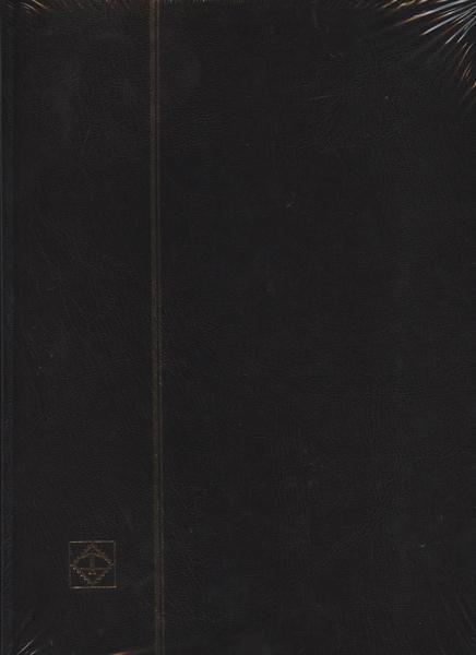 LIGHTHOUSE -  BLACK 16-SHEET STOCKBOOK (32 WHITE PAGES)