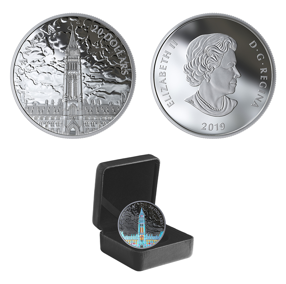 LIGHTS OF PARLIAMENT HILL -  2019 CANADIAN COINS