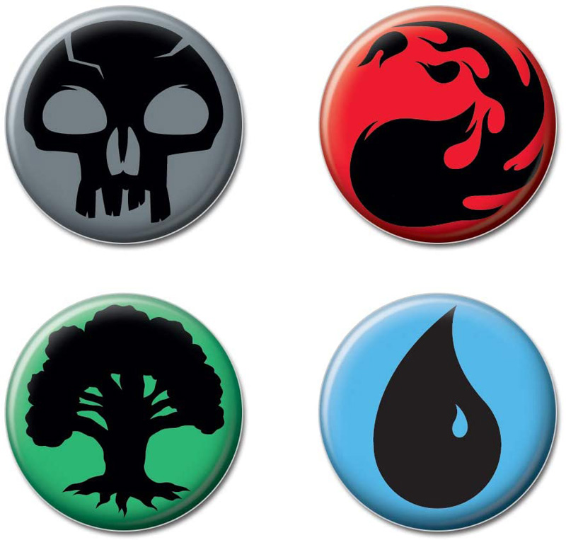 MAGIC : THE GATHERING -  SET OF 4 PINS
