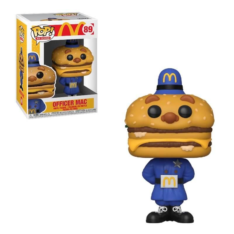MCDONALD'S -  POP! VINYL FIGURE OF OFFICER MAC (4 INCH) 89