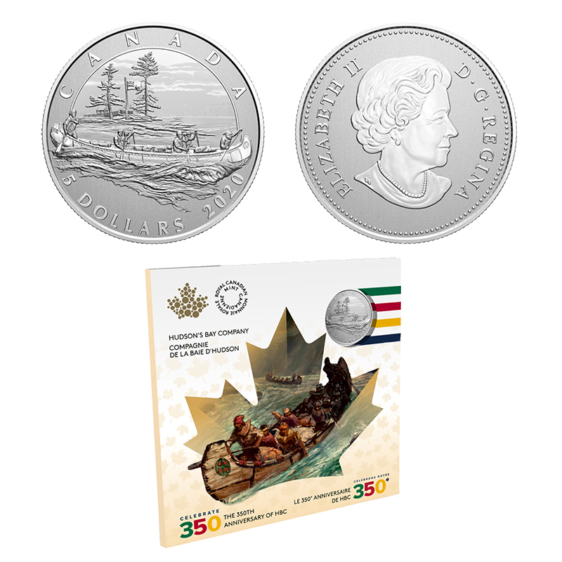 MOMENTS TO HOLD -  THE 350TH ANNIVERSARY OF HUDSON'S BAY COMPANY (HBC) -  2020 CANADIAN COINS 02