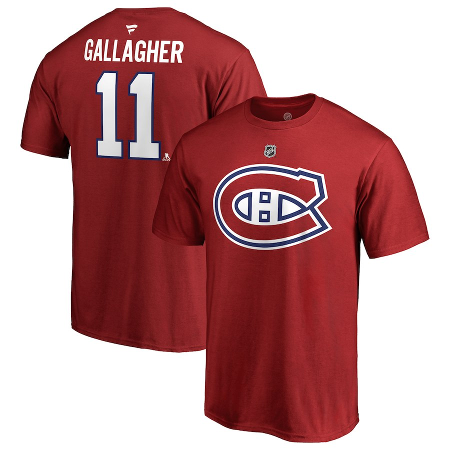 MONTREAL CANADIENS -  BRENDAN GALLAGHER #11 T-SHIRT - RED