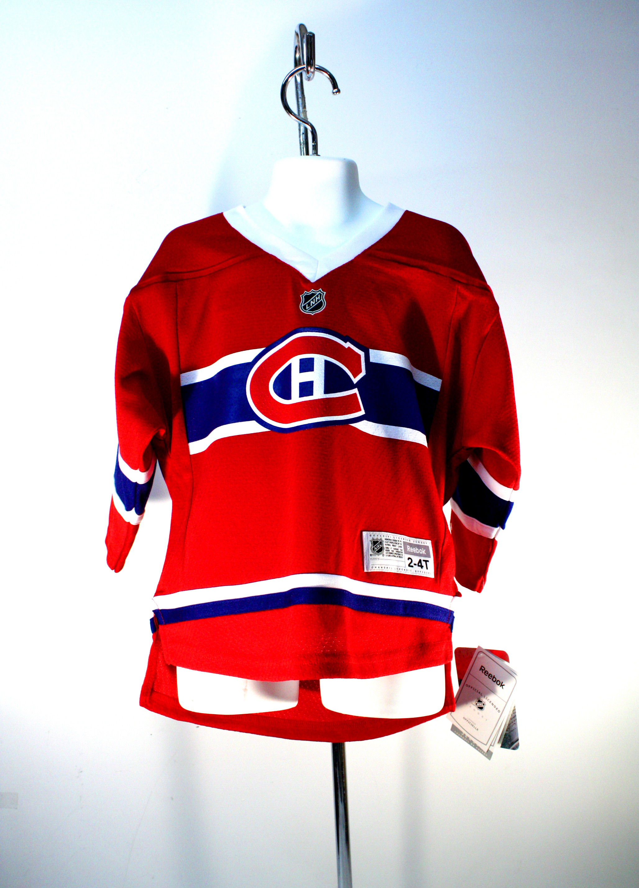 best authentic 6e320 d5019 MONTREAL CANADIENS - REPLICA JERSEY SCREENED CREST RED JUNIOR 2-4T