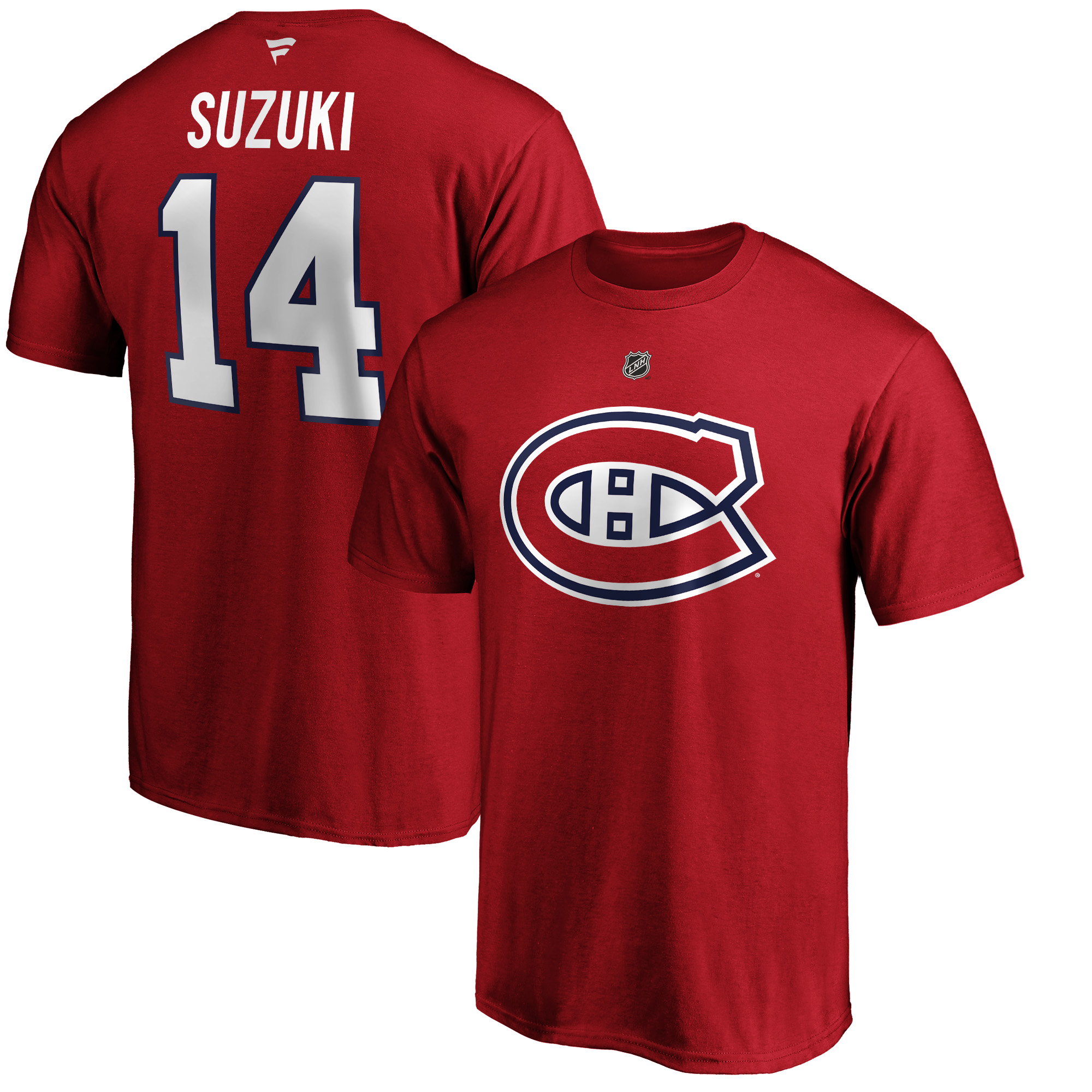MONTREAL CANADIENS -  T-SHIRT - RED 14 -  NICK SUZUKI
