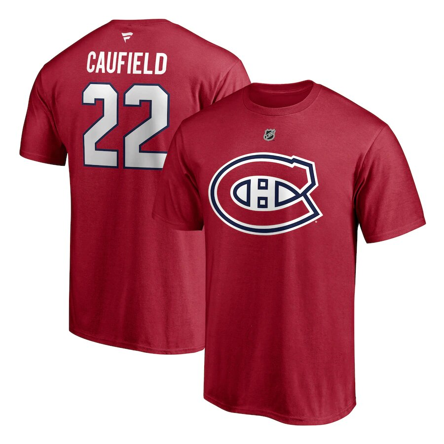 MONTREAL CANADIENS -  T-SHIRT - RED 22 -  COLE CAUFIELD