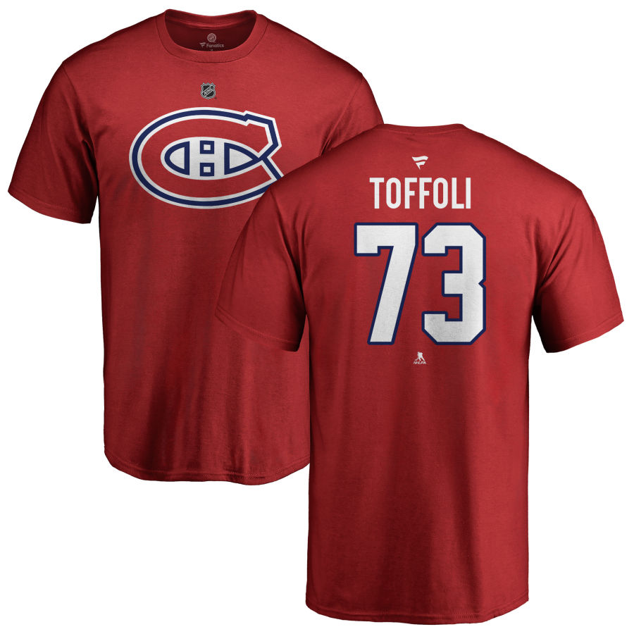 MONTREAL CANADIENS -  TYLER TOFFOLI #73 T-SHIRT - ROUGE