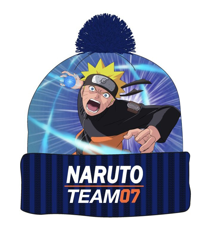 Naruto Beanie With Pompom Team 7 Manga
