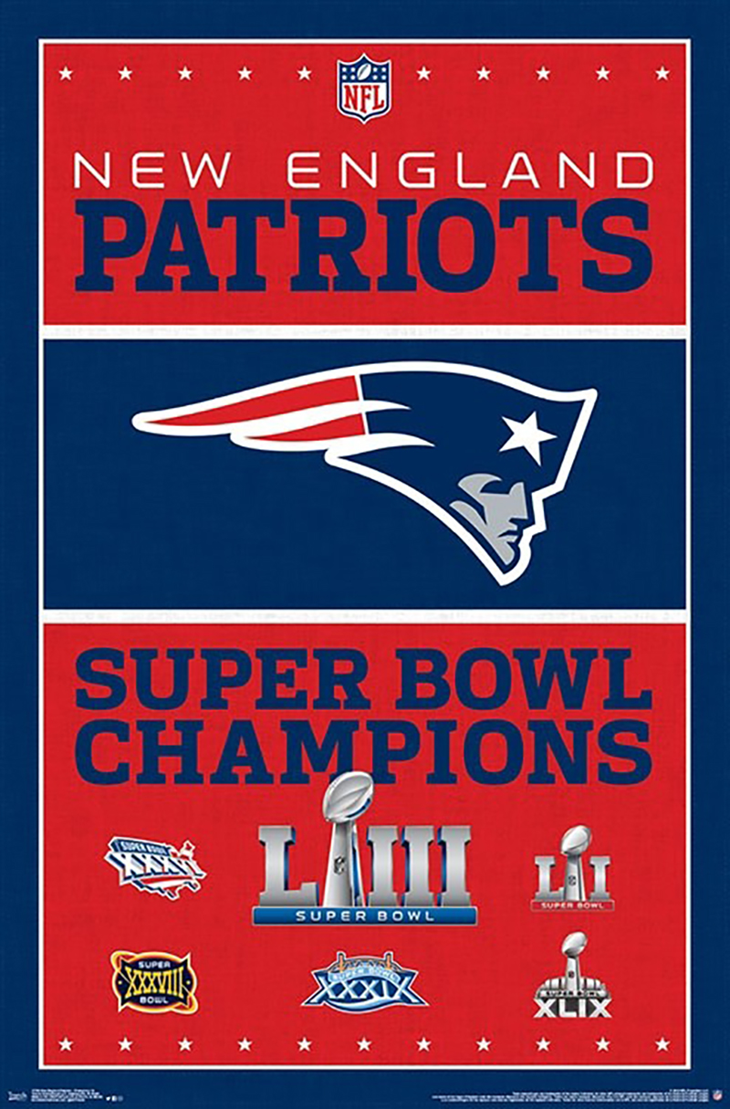 NEW ENGLAND PATRIOTS -  CHAMP POSTER 2019 (22