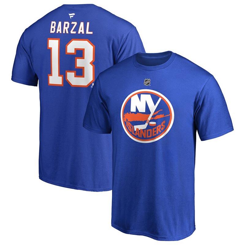 NEW YORK ISLANDERS -  MATHEW BARZAL #13 T-SHIRT - DEEP ROY
