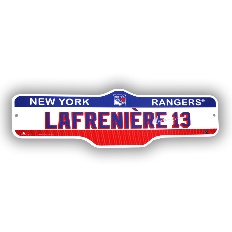 NEW YORK RANGERS -  PLAYER STREET SIGN 13 -  ALEXIS LAFRENIÈRE
