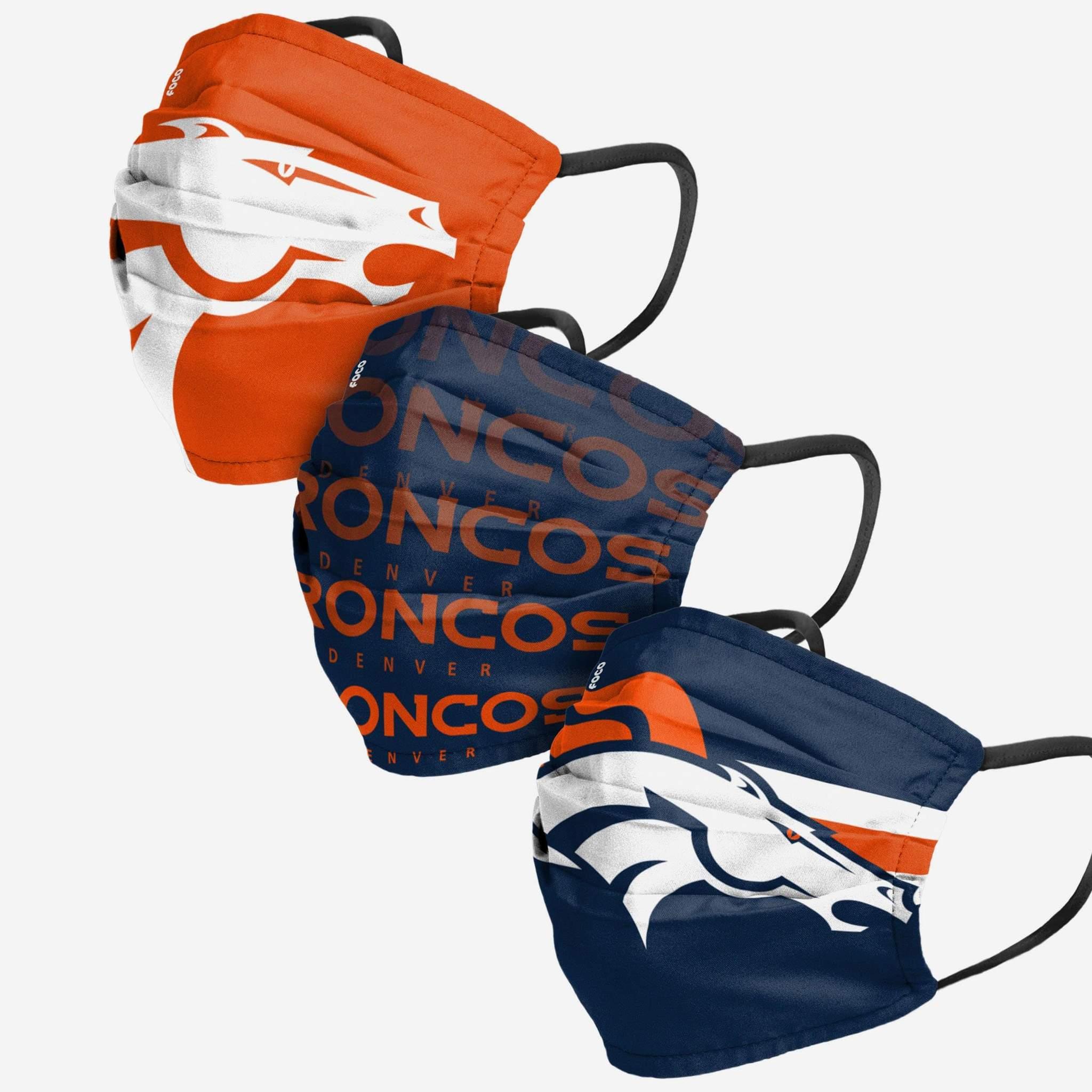NFL -  FACE MASK - PACK OF 3 -  DENVER BRONCOS