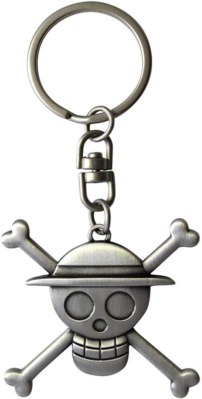 ONE PIECE -  KEYCHAIN 3D SKULL LUFFY