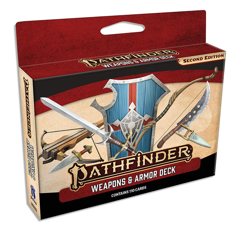 PATHFINDER 2E -  WEAPONS & ARMOR DECK (ENGLISH)