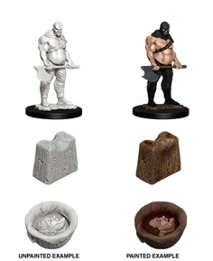 PATHFINDER MINIATURES -  EXECUTIONER AND CHOPPING BLOCK (2) -  DEEP CUTS