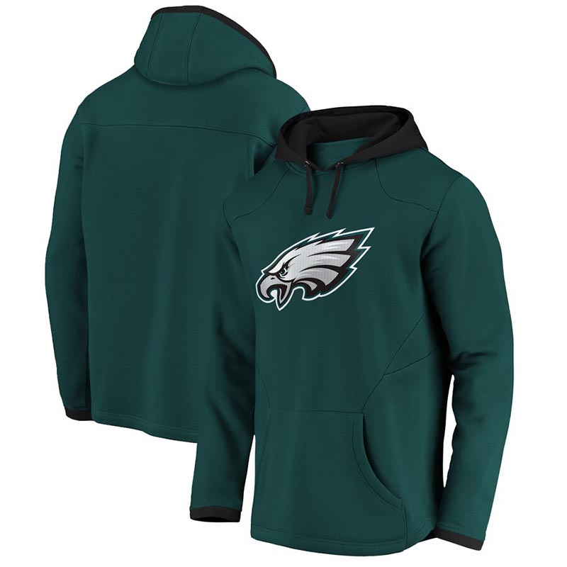 PHILADELPHIA EAGLES -  GREEN PULLOVER WITH HOOD