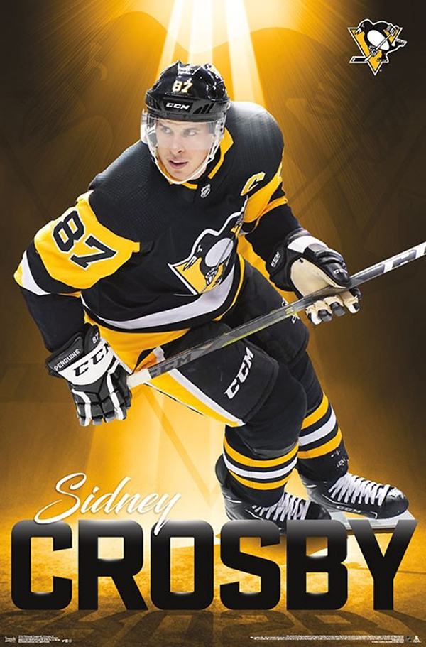 PITTSBURGH PENGUINS - 2018 SIDNEY CROSBY POSTER (22 X 34
