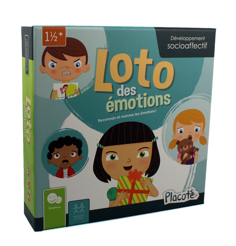 PLACOTE -  LOTO DES ÉMOTIONS (FRENCH)