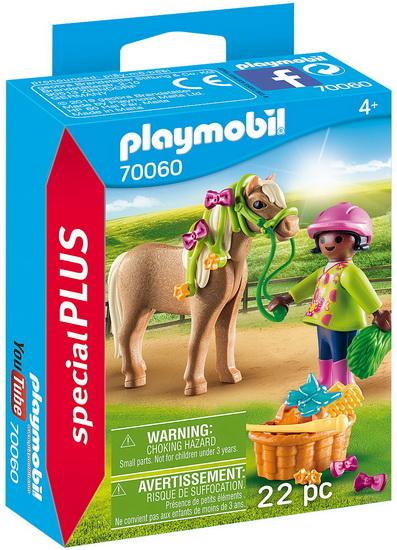 PLAYMOBIL -  GIRL WITH PONY (22 PIECES) 70060
