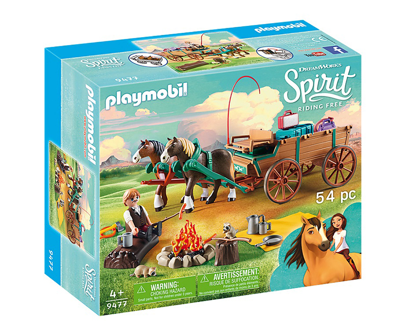 PLAYMOBIL -  LUCKY'S DAD AND WAGON (54 PIECES) 9477