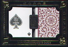 POKER SIZE PLAYING CARDS -  1546 BURGUNDY AND GREEN (REGULAR INDEX)