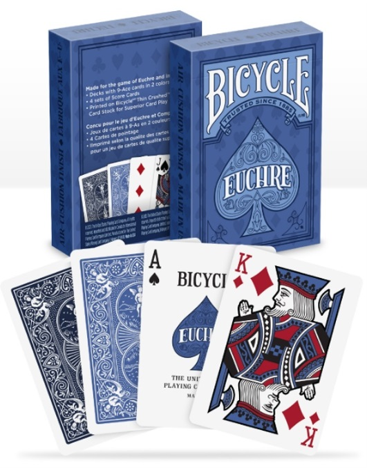 POKER SIZE PLAYING CARDS -  EUCHRE (MULTILINGUAL)