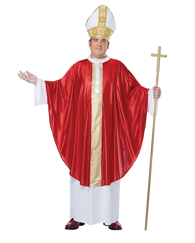 PRIESTS AND NUNS -  THE POPE COSTUME (ADULT - PLUS SIZE)