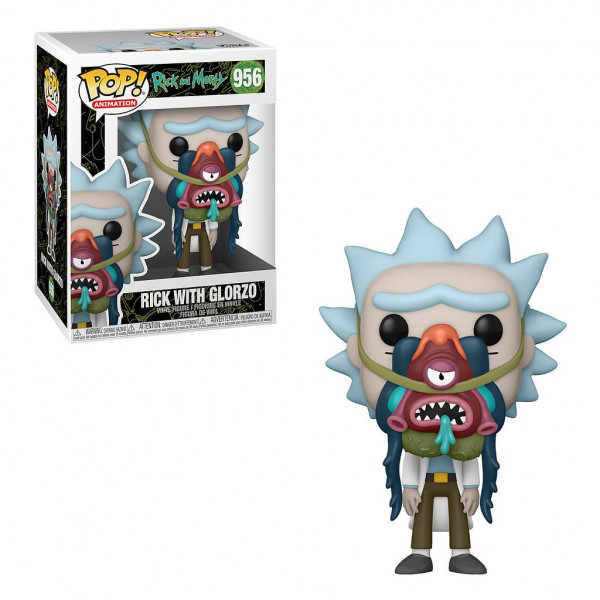 RICK AND MORTY -  POP! VINYL FIGURE OF RICK WITH GLORZO (4 INCH) 956